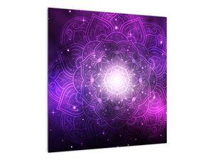 Obraz fialové abstrakce (V022148V5050)