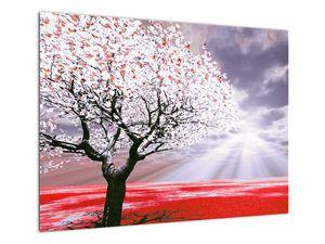Červený obraz stromu (V020052V7050)