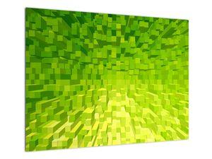 Obraz žlutozelených kostiček (V020057V7050)