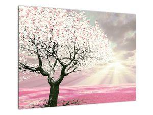 Růžový obraz stromu (V020058V7050)