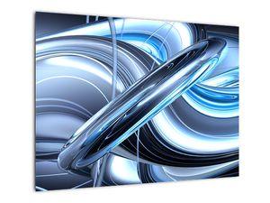 Tablou cu abstracție albastră (V020061V7050)