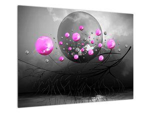 Tablou cu bile roz  (V020105V7050)
