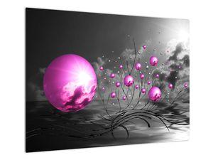 Obraz ružových gulí (V020108V7050)