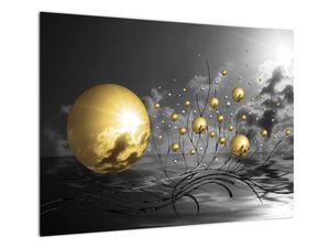 Okker gömbök képe (V020109V7050)