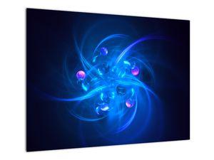 Moderní obraz modré abstrakce (V020137V7050)