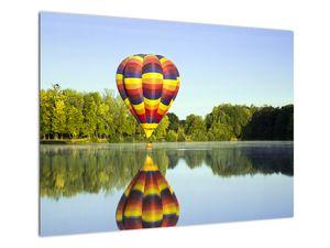 Tablou cu balon cu aer cald pe un lac (V020217V7050)