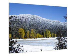 Tablou - munții înzăpeziți iarna (V020219V7050)