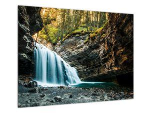 Tablou cu cascada de pădure (V020223V7050)