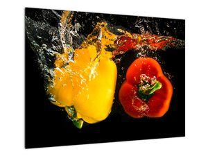Tablou - ardei în apă (V020224V7050)