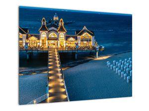 Tablou - hotel pe plajă (V020289V7050)