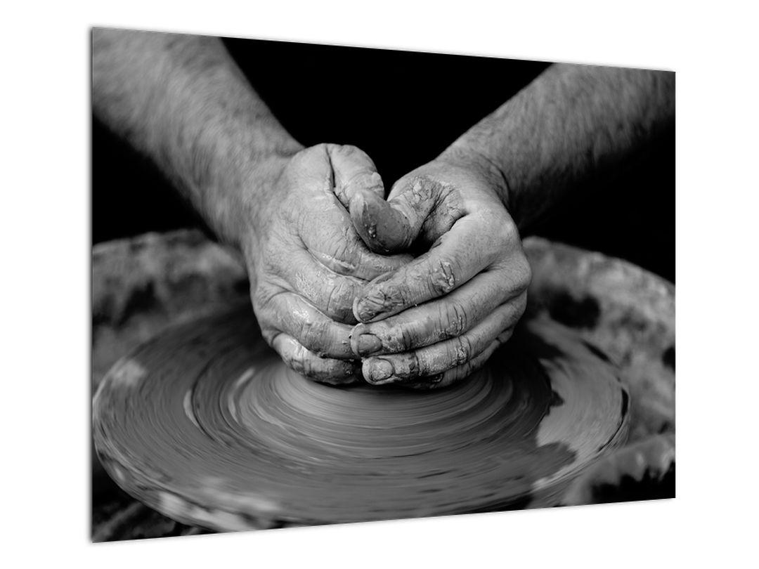 Černobílý obraz - výroba keramiky (V020349V7050)