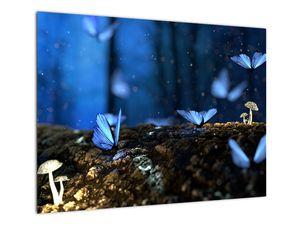 Obraz modrých motýlů (V020434V7050)