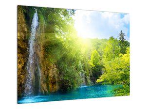 Obraz - vodopády v pralese (V020549V7050)