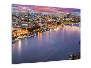 Obraz nočného mesta Bratislavy s riekou (V020706V7050)