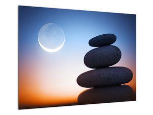 Obraz poskládaných kamenů na sobě (V020903V7050)