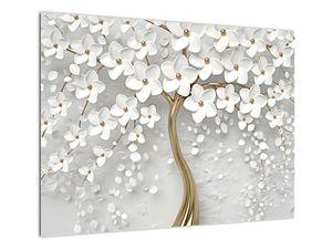 Slika bijelog stabla s cvijećem (V020977V7050)