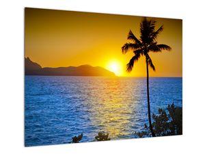 Obraz - Západ slunce nad mořem (V021905V7050)