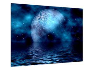 Obraz Měsíce nad hladinou moře (V021932V7050)