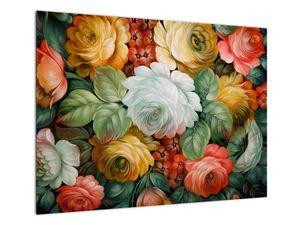 Obraz malované kytice květin (V021943V7050)