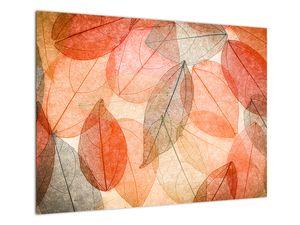 Obraz malovaného podzimního listí (V021944V7050)