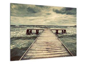 Obraz dřevěného mola na moři (V021949V7050)