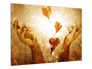 Obraz - Malba rukou plných lásky (V021978V7050)