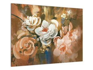 Obraz - Malovaná kytice květin (V022001V7050)