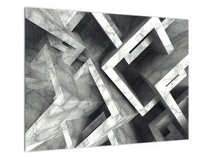 Abstraktní obraz krychlí (V022004V7050)