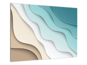 Abstraktní obraz mořského pobřeží (V022047V7050)