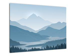 Obraz - Hory pohledem grafika (V022118V7050)