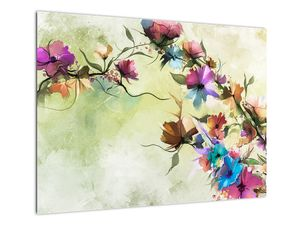 Obraz - Malba pnoucí květiny (V022120V7050)