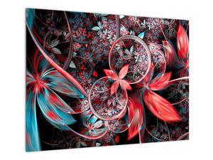 Abstraktní obraz exotických květů (V022145V7050)