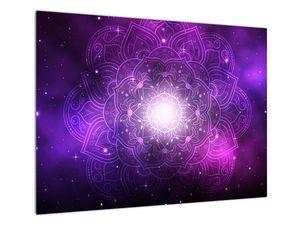 Obraz fialové abstrakce (V022148V7050)