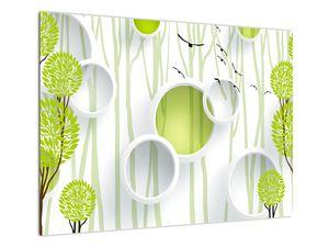 Obraz abstrakce se stromy (V022185V7050)