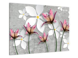 Obraz květinové abstrakce (V022186V7050)