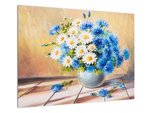Malovaný obraz vázy květin (V022252V7050)