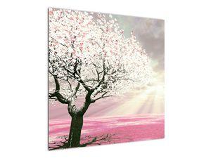 Růžový obraz stromu (V020058V7070)