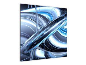 Tablou cu abstracție albastră (V020061V7070)