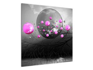 Tablou cu bile roz  (V020105V7070)