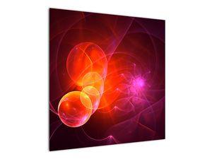 Moderní obraz růžové abstrakce (V020129V7070)