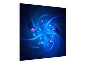 Moderní obraz modré abstrakce (V020137V7070)