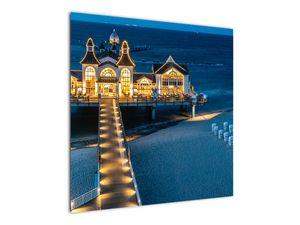 Tablou - hotel pe plajă (V020289V7070)