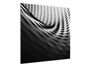 Abstraktní obraz - černobílá spirála (V020667V7070)