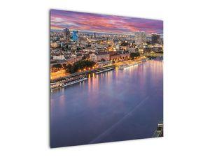 Obraz nočného mesta Bratislavy s riekou (V020706V7070)