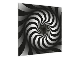 Abstraktní obraz černobílé spirály (V020831V7070)