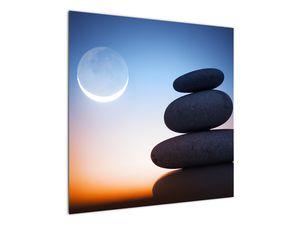 Obraz poskládaných kamenů na sobě (V020903V7070)