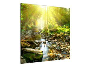 Obraz řeky v zeleném lese (V020942V7070)