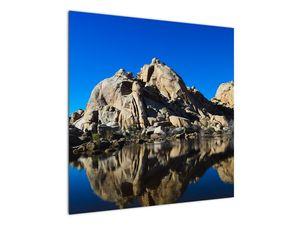 Obraz zrkadlenie skál (V021327V7070)