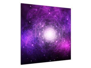 Obraz fialové abstrakce (V022148V7070)