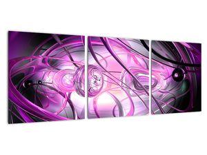 Obraz krásné fialové abstrakce (V020060V9030)